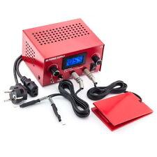 3in1 Tattoo Set Digital Netzteil Power Supply Fußpedal mit Clipcord Kabel N12-15