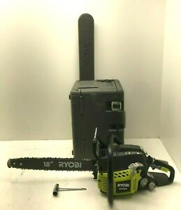 "Ryobi RY3818  2 Cycle 18"" Chainsaw w/Heavy Duty Case 38cc 2-Cycle Gas GR"