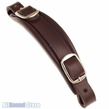 NEW Leather Replacement Handle w/ Buckles for Gibson® Style Guitar Case - BROWN