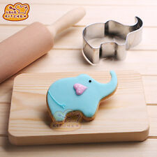 Stainless Steel Cakes Mold Cute Elephant Shape Kitchen Small Tool DIY Cookie