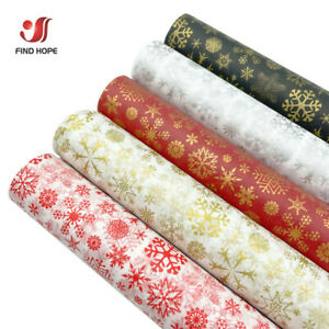 50cm*75/35cm Tissue Wrapping Paper Xmas Snow Flower Handmade Craft  Gift Packing