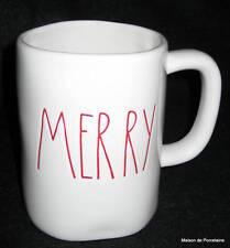 """RAE DUNN ARTISAN COLLECTION CHRISTMAS """"MERRY"""" MUG RED"""