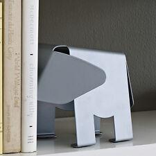 Design Ideas Hannibal Elephant Modern Silver Metal Decorative Bookends Art Gift