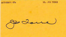 MLB Autographed Index Cards