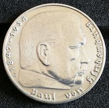 Deutsches Reich 2 Mark In 2 Silber Reichsmarkmünzen Des Dritten