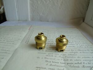 French  2 brass  sockets light bulb holder  vintage for B 22