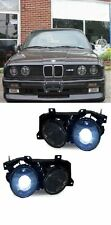 SMOKED PROJECTOR STYLE HEADLIGHTS HEADLAMPS FOR THE BMW E30 3 SERIES
