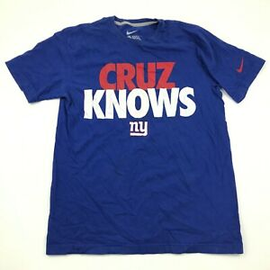 Nike Victor Cruz New York Giants Shirt Size Medium M Regular Fit Blue White Tee