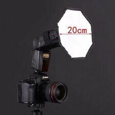"8"" Flash Strobe Octagon Umbrella Soft Box Diffuser for Photo Studio Speedlite"