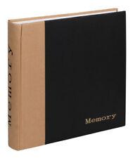 Memory Fotoalbum in Schwarz 30x30 cm 100 weiße Seiten Foto Album Fotobuch