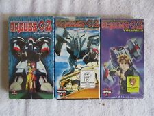 Orguss 02, Vols 1-3 Manga VHS Video-Set-  rare - English Dubbed 1994