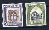 Cyprus KGV 1934 9pi & 18pi fine mint LHM SG141 & SG142 WS19378