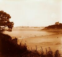FRANCE Bretagne Dinard Saint-Malo 1928, Photo Stereo Plaque Verre VR2L17n16