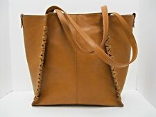 Purse INC NWT $99 Cognac Brown Tote Shoulder Bag Gold Hardware Removable Pouch