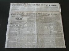 1821-1825 INDEPENDENT CHRONICLE & BOSTON PATRIOT NEWSPAPER LOT OF 2 - NP 2637