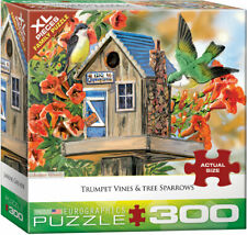 "Eurographics - ""Trumpet Vines & Tree Sparrows"" - 300 XLg Piece Jigsaw Puzzle NEW"