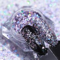 BORN PRETTY Holographicss Holo Nail Flakes Sequins Powder Glitter Dust Paillette