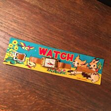 Vintage NOS Toy Watch Made in Japan Bunny Bird Puppy on Card PRIORITY MAIL c