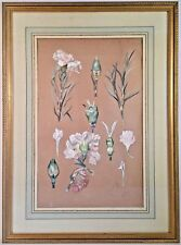 Listed Artist Jane Lévy (1894-1942) Signed Watercolor & Gouache Floral Painting