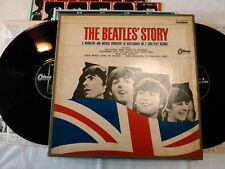 THE BEATLES' STORY JAPAN ODEON BOOK SLEEVE FULL BOX SET OP-7553~4 RED WAX