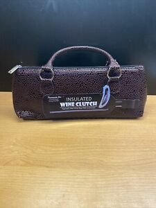 Primeware Insulated Cork Wine Bag Clutch Tote Thermal Lined