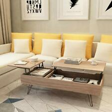 Lift Top Coffee Table w/ Drawers & Storage Space Hidden Compartment Living Room