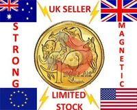 SUPER STRONG MAGNETIC AUSTRALIAN DOLLAR AUD $1 MAGIC TRICK COIN - MAGNET MAGIC