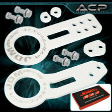 For Cadillac Chrysler Eagle Pontiac Racing White Front Rear Tow Hook Hitch
