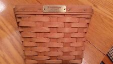 longaberger 1992 dresden basket signed by Ginny Longaberger