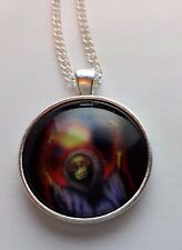 "Death  Cabochon Tibet Silver 18 "" Chain  Necklace Gift Halloween"
