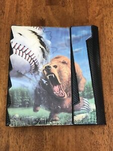 Vintage 1991 Mead Trapper Keeper Portfolio Notebook No Rules Bear Baseball 29062