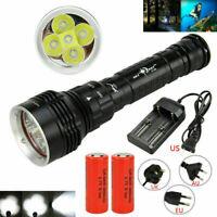 Underwater 100M 30000LM 5x XML L2 LED Super Bright Scuba Diving Flashlight Light