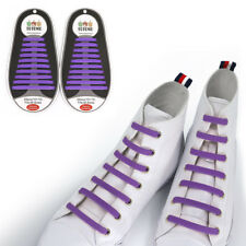 TOTOMO Purple No-Tie Elastic Shoelaces Silicone Tieless Shoe Laces for Addidas