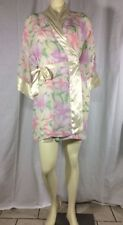Vintage Victoria Secret Robe Kimono Very Pretty Sheer and Floral One Size