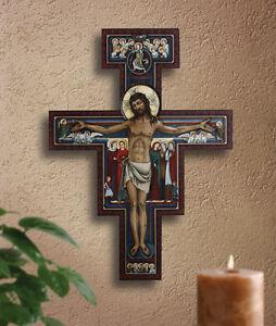 "31"" San Damiano Crucifix Wood Designed by Marco Savelli"