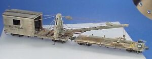 O/On3/On30 WISEMAN MODEL SERVICES DP-77 D&RGW DERRICK OP MOW CRAFTSMAN KIT