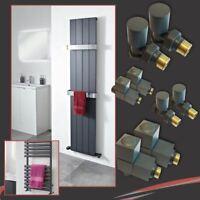 HUGE SALE! Designer Anthracite Radiator & Towel Rail Valves (Square OR Round)