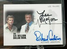 "Lee Majors & Richard Anderson signed Six Million Dollar Card #DA1 ""MINT"""