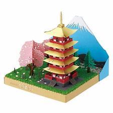 Kawada PN-144 Papernano Five-Storied Pagoda & Mt.Fuji Cherry blossoms NEW