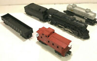 Lionel Lines Steam Freight Set W/2-6-4 DieCast Engine #2025, Tender, 3 Cars-USED