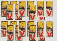10 Packs 20 Traps VICTOR Easy Set Mouse Trap w/ Cheese Kills Mice Wood Base M035