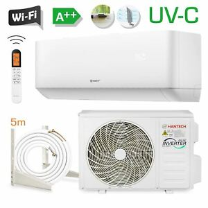 HANTECH 12000 BTU UV-C Split Klimaanlage WLAN Klimagerät 3,4 kW Klima HPRO + 5m