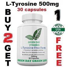L-Tyrosine 500mg Energy Chronic Fatigue Depression