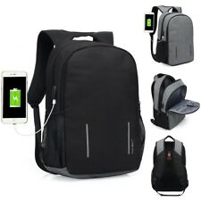 Waterproof Anti-Theft Computer Bag Pack Travel Laptop Backpack Rucksack USB Port
