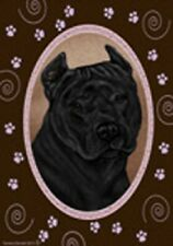 Paws Garden Flag - Black American Pit Bull Terrier 174071