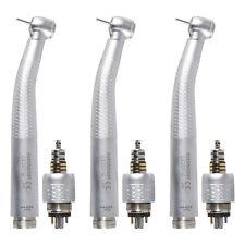 3*Dental Fiber Optic Handpiece Turbine Triple Spray 6H LED Coupler Fit GW Rotor