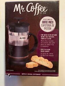 Mr. Coffee 32 oz Coffee Press Cafe Oasis # 60264.01 Brand New in Box *198