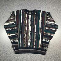 Vintage 90s ALBERTO DANTI Cosby Style Mens Sweater XL | 3D Knit Jumper