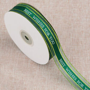20 yd Bouquet packing ribbon trim Gift cake packaging Best wishes for you 25mm
