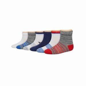 6-Pack Hanes Boys Toddler EZ Sort Ankle Socks - Assorted Colors - ALL SIZES